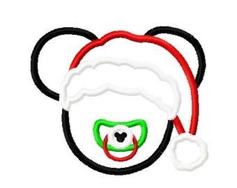 Character Inspired Santa with Paci Embroidery Applique Design