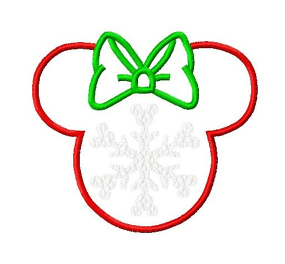 Character Applique Design : Character inspired with large snowflake embroidery applique