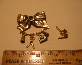 Seamstress Figural and Zipper Earrings(445)