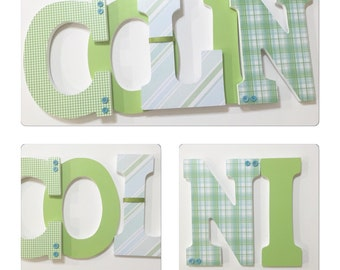 Custom Nursery Wall Hanging Letters