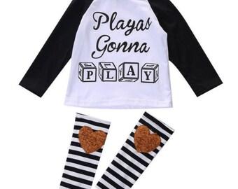 "Playas gonna play"" t-shirt and legging SET"