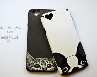 Cat iPhone 6 6s Case - Bulldog iPhone 6 PLUS Case - Animal iPhone Cover