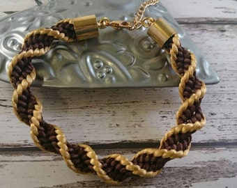 Beautiful kumihimo braided bracelet