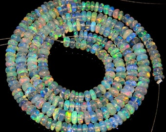 "Ethiopian Fair Opal Smooth Beads Size 5x6.5 mm Approx 13""Inches New Arrival Superb Quality Wholesale Price"