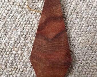 Geometric wood earrings, Indian Apple