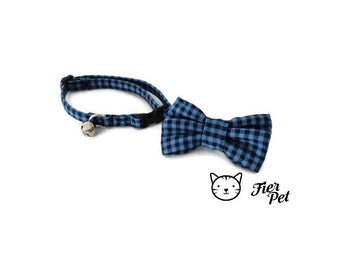 cat bowtie collar,cat collar,fierpet,collar breakaway safety, cat accessories, cat bow tie , cat collar