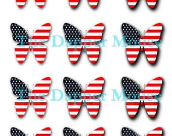 Printable 4th of July Collage Sheet Commercial Use