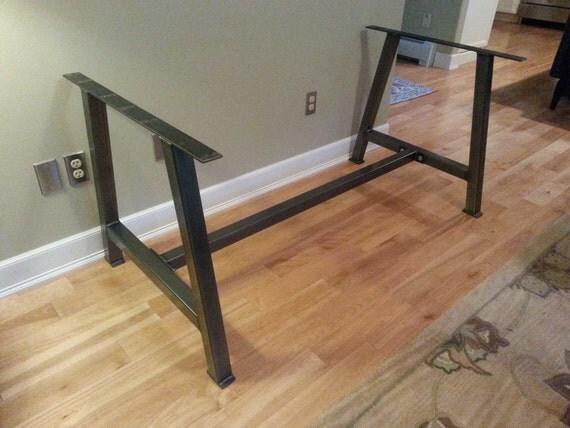 Metal Table Legs With Cross Bar Brace A 2 Steel Table