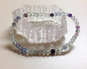 Reiki, Meditation, Spiritual Jewelry, Flourite Bracelet
