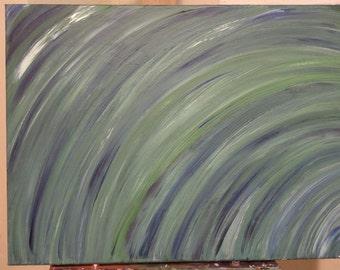 Abstract, Green, Blue,  Gradient, Acrylic, Earth Tones, Wall Art, Home Decor, Contemporary, Living Room Decor, Bedroom Decor