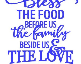 Bless the Food Decal