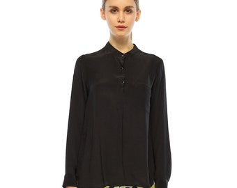 Lets Go Silk Shirt - Black