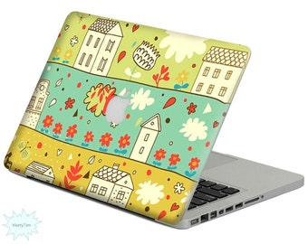 New buildings decal mac stickers Macbook decal macbook stickers apple decal mac decal stickers