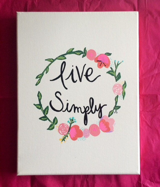 Live Simply Canvas Quote Painting Home Decor by HolyCityHailey