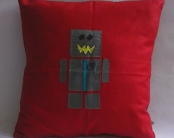 Red Robot Cushion Cover