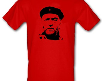 JEREMY CORBYN Red Labour Party Leader Che Guevara Style Heavy Cotton t-shirt All Sizes Small - XXL (kids and adults)