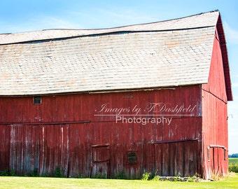 Red Barn, Rustic Old Barn, Rural, Farm Land, Fine Art Photography, Fine Art Print, Wall Decor