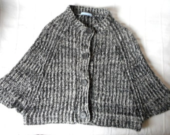 Wool Cardigan/ Bolero by Strenesse Blue
