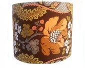 Vintage Floral Fabric Flower Lampshade Light