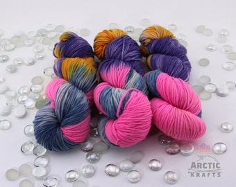 Candy Shop hand dyed worsted weight yarn 220 yards