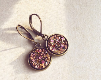 Earrings pink/gold Glam