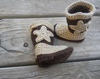 Baby Crochet Cowboy Boots. Baby Shower Gift. Photo Props.