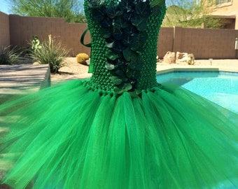 Poison Ivy tutu dress, Halloween tutu costume,super hero tutu dress