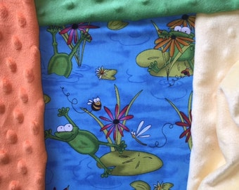 Customized, Personalized Children's/Pet Blanket - Frogs in the Pond