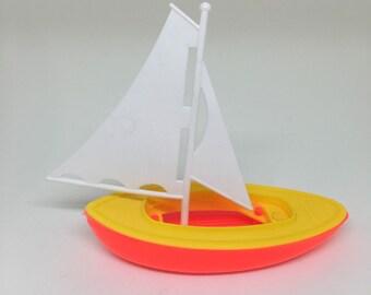80s Vtg SAILBOAT Cake Topper Nautical Party Theme