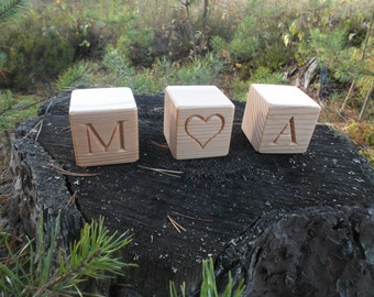 Wood name blocks, Personalized wooden blocks, Handmade gift, Natural home decor, Baby name blocks, Eco friendly toy, Baby shower gift