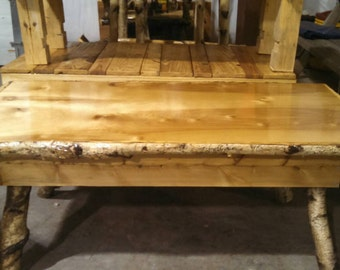 White birch and ceder coffee table