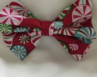 Christmas fabric hair bow