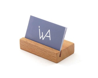 Wooden Business Card Holder - 8-10 Cards Capacity