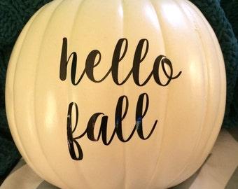 Pumpkin decals!
