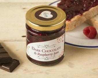 Handmade 70% Aruca Dark Chocolate and Raspberry Jam