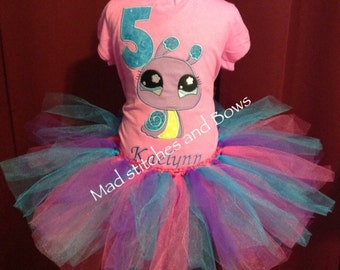 custom Embroidered pet shop birthday shirt tutu outfit  outfit