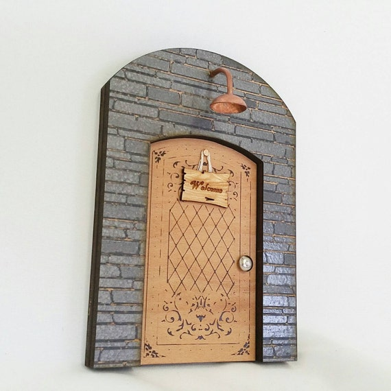 Items similar to wooden fairy door fairy door gnome door for Wooden fairy doors