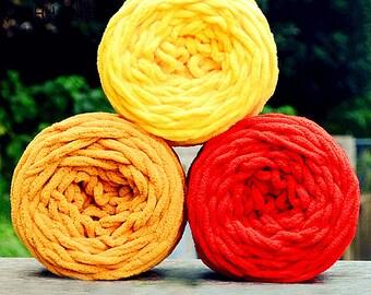 Handspun Yarn Scarf Knit Bulky Knitting Yarn Acrylic Yarn Three Colors 100 gr. Skeins y05