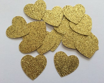 Gold Heart Confetti.Perfect for weddings, parties, bridal showers, birthdays, engagement parties, baby showers.Silver. Gold Glitter confetti