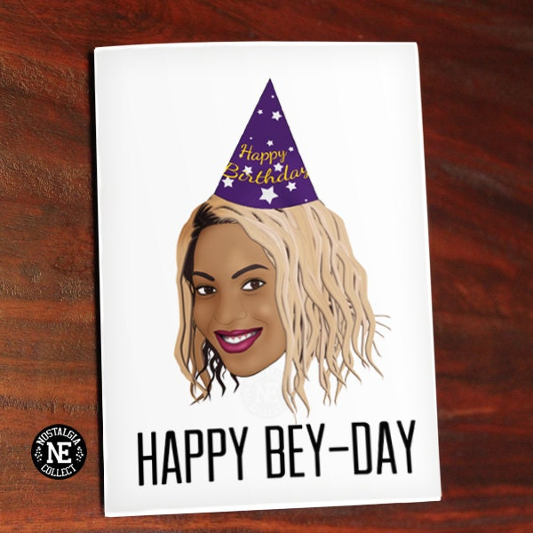 beyonce card  etsy, Birthday card