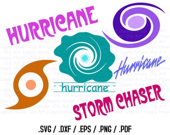 Hurricane Clipart Design Files, Use With Silhouette Software, Cricut, DXF Files, SVG File, EPS File, Svg Clip Art, Silhouette Studio - CA331