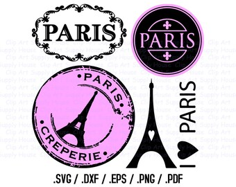 Paris Clipart, Paris SVG Files, I Love Paris Clipart, Parisian Silhouette Files, Paris Cricut, Paris Silhouette File, French SVG - CA212