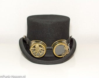 Steampunk goggles 195 with octopus and clock gear