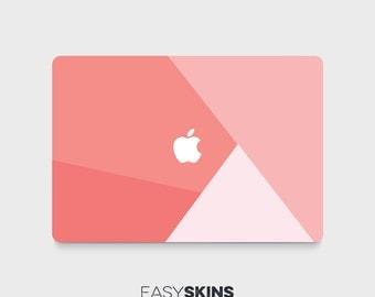 Coral Geo - MacBook Pro Skin | MacBook Air Sticker | Laptop Skin | MacBook Decal | Laptop Sticker | Easy Skins