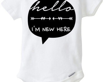 Hello, Im new here baby onesie