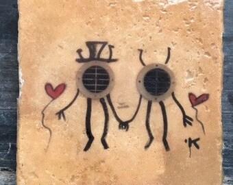 Italian Graffiti Love Coaster or Decor Accent