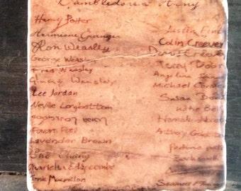 Dumbledore's Army Signatures Coaster or Decor Accent