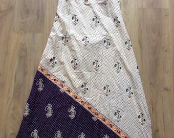 Vintage 70s Batik print sundress Medium
