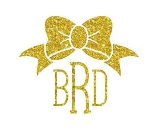 glitter iron on monogram monogram bow decal iron on designs glitter iron on letters gold glitter iron on custom monogram decal