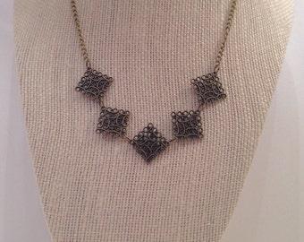 Bronze Square Necklace